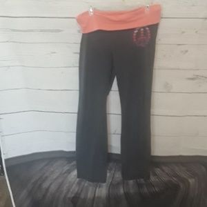 [ OLD NAVY ] SZ LARGE YOGA PANTS GRAY CORAL